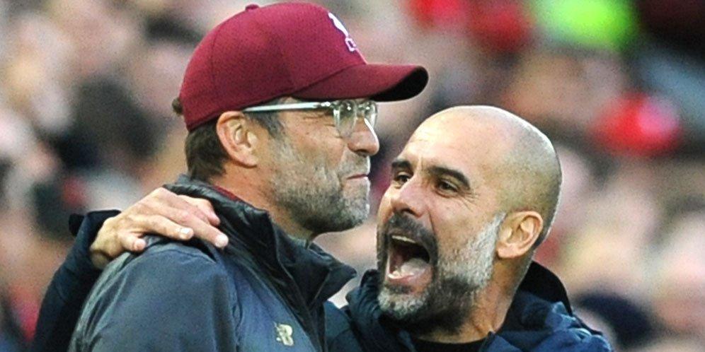 Jurgen Klopp dan Pep Guardiola